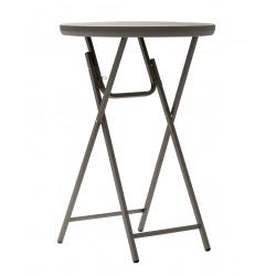 """Table haute ronde pliante professionnelle couleur """"taupe"""" diamètre 76,2 cm"""