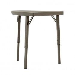 """Table d'angle pliante professionnelle couleur """"taupe"""" carré de 76,2 cm"""