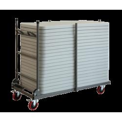 Chariot pour tables en polypropylène de longueur 120 cm