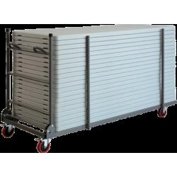 Chariot pour tables pliantes L150, L180, L240