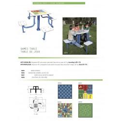 Table de jeux enfants pour l'extérieur