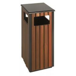 Corbeille bois carrée 36 L