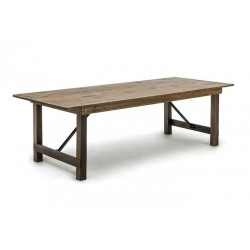 Table rustique pliante en pin massif