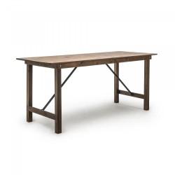 Table haute rustique pliante en pin massif