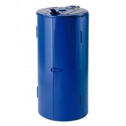 Poubelle de voirie bleue capacité 120 litres