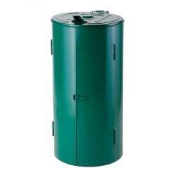 Poubelle de voirie verte capacité 120 litres