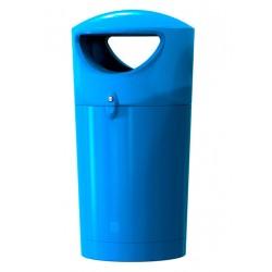 """Poubelle de rue """"bleu italien"""" en polyéthylène 100 L"""