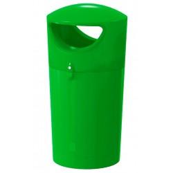 """Poubelle de rue """"citron vert"""" en polyéthylène 100 L"""