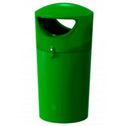 """Poubelle de rue """"vert foncé"""" en polyéthylène 100 L"""