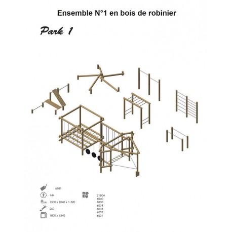 Ensemble N°1 en bois de robinier