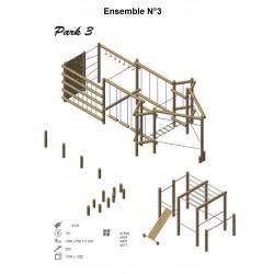 Ensemble N°3 en bois de robinier