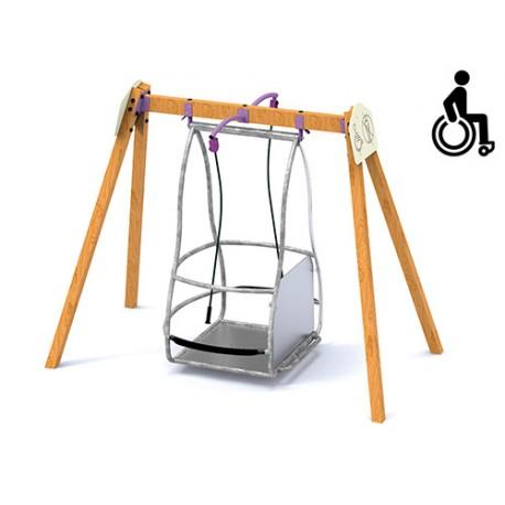 Portique-balançoire pour fauteuil roulant