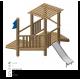 Airs de jeux en bois de robinier modelé 3B pour enfant de 1 à 4 ans