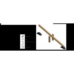balance en bois de robinier