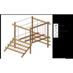 Module équilibre en bois robinier