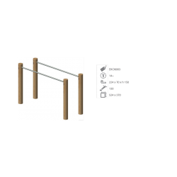 Barres parallèles en bois de robinier