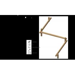 Module sportif barre parallèle en structure bois de robinier