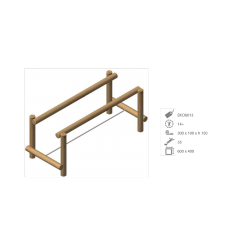 Module barres parallèles en bois de robinier N°2