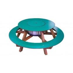 Table ronde avec bassine centrale