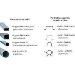 Colliers de fixations pour poteau 80x40 simple