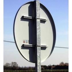 Poteau galvanisé diamètre 60 mm pour panneau