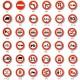 Signalisation d'interdictions - Type B