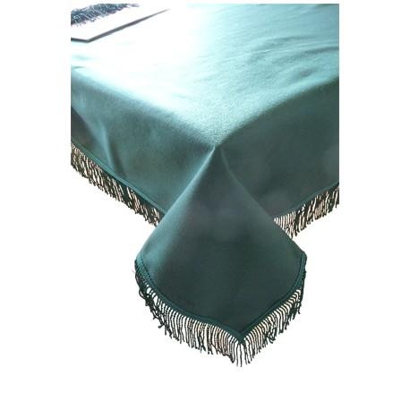 Tapis de table Vert avec franges