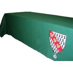 Tapis de table Vert avec coupe franche