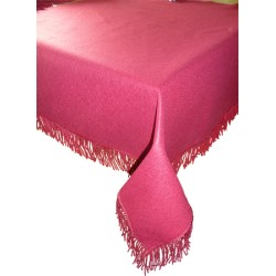 Tapis de table Grenat avec franges