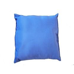 Coussin avec franges 50 x 50 cm en Ottoman - Bleu