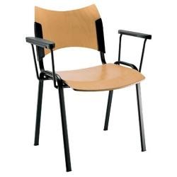 Chaise de professeur avec accoudoirs