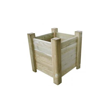 Jardinière carrée en bois