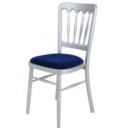 Chaise de Banquet Tradition (argent-bleu)
