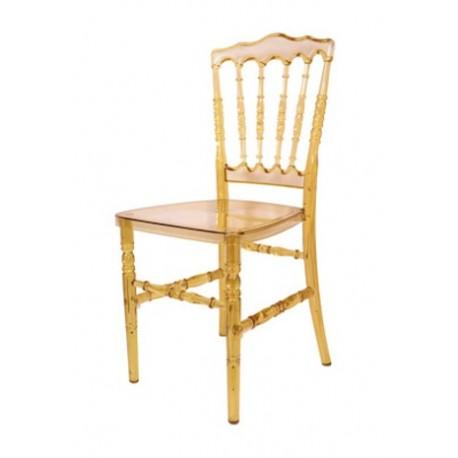 Chaise de Banquet Médiéval Ambre