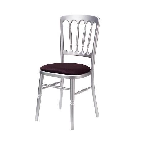 Chaise de Banquet Tradition (argent-noir)
