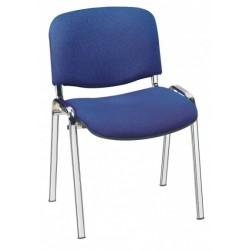 Chaise pour séminaires finition chromée, époxy aluminum, ou époxy noir avec tissus M1