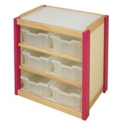 6 grands casiers PVC pour meuble