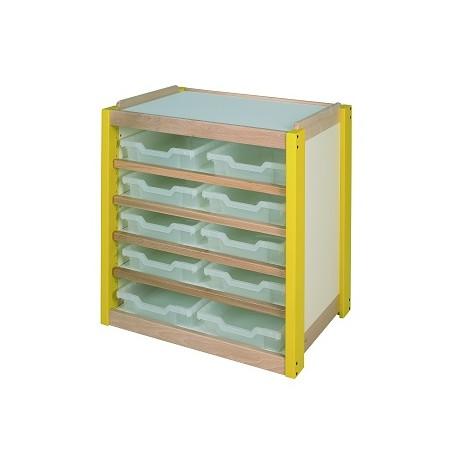 6 grands casiers en bois pour meuble