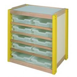10 petits casiers PVC tranlucides pour meuble
