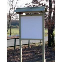 Panneau bois dont panneau d'affichage en compact avec toit (96 cm x 96 cm)