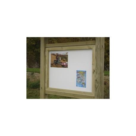 Panneau d'affichage bois sans toit (130 cm x 130 cm)