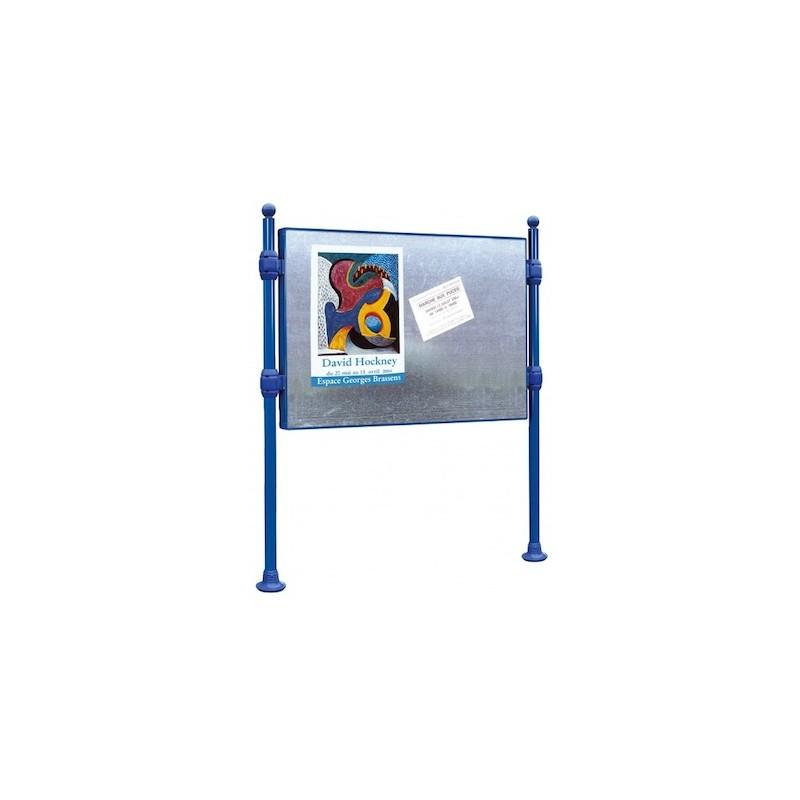 panneau d 39 affichage libre sur poteaux entreprise collectivite jeux aires de jeux mobilier. Black Bedroom Furniture Sets. Home Design Ideas