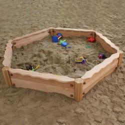 """Bac à sable en bois de robinier 'luxe"""""""
