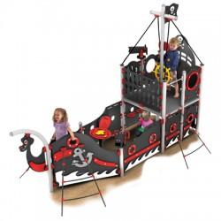 Le bateau pirates de Barbe noire