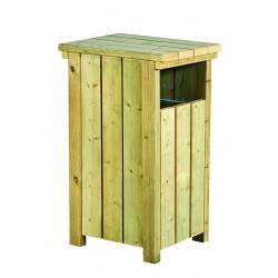 Corbeille bois pour collectivités avec seau métallique 60 L