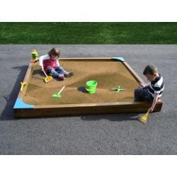 Bac à sable pour écoles - dimensions : 2 m x 2 m