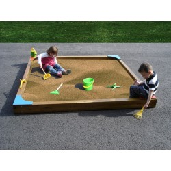 Bac à sable pour écoles - dimensions : 3 m x 3 m