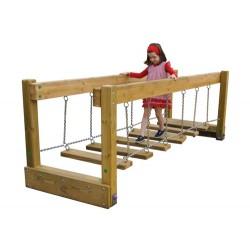 Pont avec marches mobiles