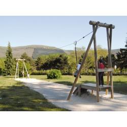 Tyrolienne en bois longueur 15 m