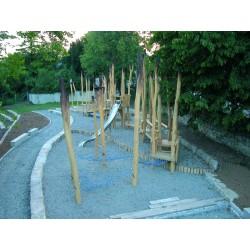 Le parcours des chouettes en bois de robinier